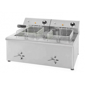 Freidora eléctrica Corequip ECO 8+8 Litros