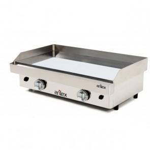 Plancha a gas de acero 15 mm baño cromo ARILEX 80PGC
