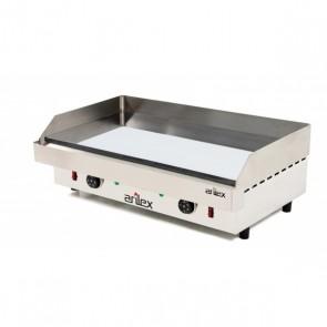 Plancha eléctrica de acero 15 mm baño cromo ARILEX 80PEC